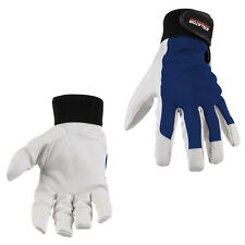 Handschuhe extra weich Montage  Arbeitshandschuhe Schweinsleder XL Blau