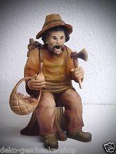 Tallado Fumador Colección 17cm de Tocón de Árbol Talla 15069