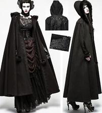 Cape longue manteau gothique lolita baroque capuche broderies fourrure Punkrave