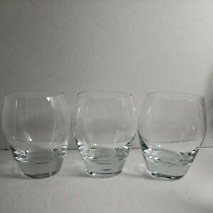 Luigi Bormioli Regency Double Old Fashioned Glasses 15 oz Italy Set of 3
