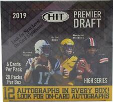 2019 SAGE HIT PREMIER DRAFT HIGH SERIES FOOTBALL FACTORY SEALED HOBBY BOX