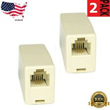 2*4C RJ11 Telephone Phone Jack Line Coupler Connector for Exten Cord Beige