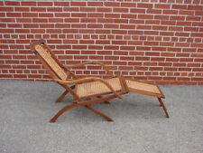 Antique Signed Collignon Folding Walnut Steamer Deck Chair