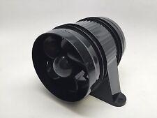 Pactrade Marine High Performance ABS Black Turbo In Line Bilge Blower 4''D 12V