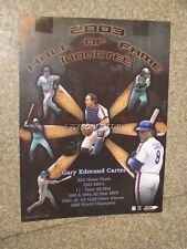 Gary Carter Mets Expos 2003 Hall of Fame Inductee Poster