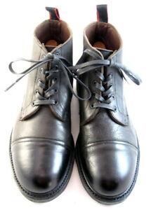 "Allen Edmonds ""PATTON"" Cap-Toe Boots with Dainite Soles 9.5 E Grey  (553)"