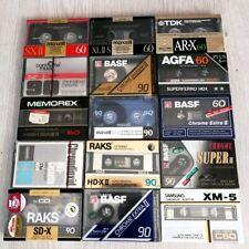 15X Audiokassetten KONVOLUT - BASF TDK AR Maxell SX XL II AGFA SAMSUNG XM RAKS
