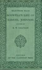 BOSWELL James. Selections from Boswell's life of Samuel Johnson