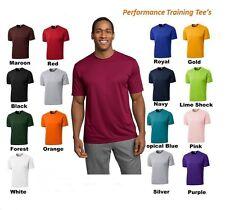NEW MEN'S TALL MOISTURE WICKING DRY FIT Run Workout Short Sleeve T SHIRTS TST350