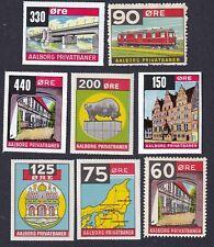 Denmark Local Railway Parcel Stamps Aalborg Ã…Lborg Train