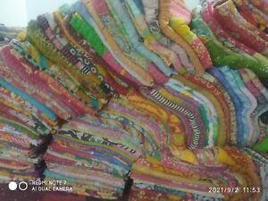 Vintage Wholesale Lot Kantha Quilt Indian Vintage Reversible Handmade Blanket