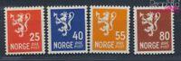 Norwegen 319-322 postfrisch 1946 Freimarken: Wappenlöwe (8688466