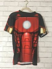 Under Armour IRON MAN FULL SUIT COMPRESSION Red Short Sleeve Shirt New Large