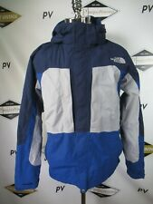 G2271 THE NORTH FACE Men's HyVent Multicolored Hooded Nylon Jacket Sz L