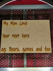 Personalised Laser engraved wooden sign. Man cave den bar