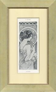 "1898 ���La Fleur"" by Alphonse Mucha  Original Lithograph for Cocorico"