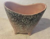 Vintage MCCOY Pottery Speckled Planter Pot   USA