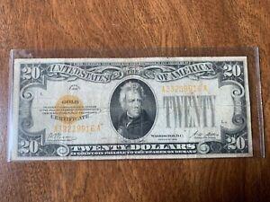 1928 GOLD CERTIFICATE $20 TWENTY DOLLAR GOLD CERTIFICATE (L)