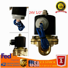 12 Npt Female Brass Electric Solenoid Valve For Water Air Gas Fuel 0 145 Psi
