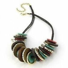 Wooden Statement Fashion Necklaces & Pendants