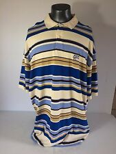 Enyce Sean Combs Polo Shirt Men's 4XLYellow Blue Brown Urban Streetwear
