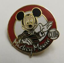 Disney Mickey Mouse Club Mickey in Red and Black Rugby Shirt Pin