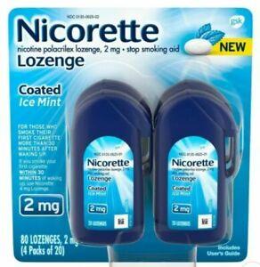 Nicorette LozengeCoated Nicotine Stop Smoking Aid - 2mg, 80Ct