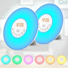 2x Wake-up Light Lichtwecker Radiowecker Sonnenaufgangfunktion Kinderlicht Touch