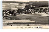Neudorf Sachsen Erzgebirge DDR Postkarte 1963 Panorama Totale Kühe Wald Weiden