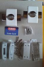 Lot de 2 VERROUS haute sûreté BLANC  ABUS STYL + 6 clés identiques