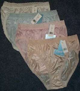 4 Pair Pastel French Cut Nylon PANTIES Size 6 Lace Top  USA MADE
