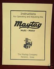 Maytag Multi Motor Engine Service Manual Hit & Miss