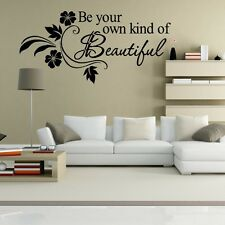 Wall Decor Art Vinyl Removable Bedroom Parlor Decal Sticker Be Your Beautiful