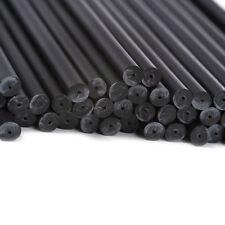 x50 190mm x 4.5mm Noir Coloré Plastique Sucette Gâteau Pop Bâtons Artisanats