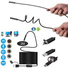 8mm HD Linse Auto Inspektionskamera Endoskope steif 2M Kabel für Andriod Windows