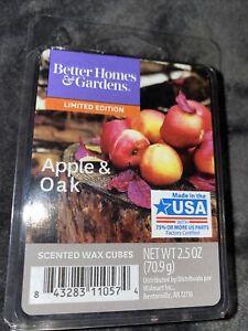 BETTER HOMES & GARDENS Apple & Oak WAX BAR / CUBE MELTS 2.5 OZ. For Wax Warmer