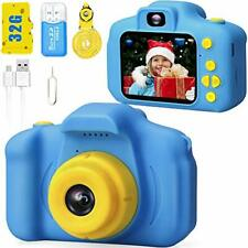 Kids Digital Camera HD 1080p Video Record Selfie 32GB SD Card 2.0Inch IPS Screen