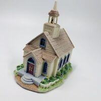 "Beautiful 6"" Flocked Ceramic Light-up Church Figurine Flocking Style (B3)"
