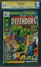 Marvel Feature #1 Cgc 9.4 1971 1st Defenders! Stan Lee Signature! G6 139 cm