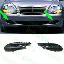 2xCar Auto Front Bumper ABS Fog Light Cover Trim For Benz W220 S-Class 1999-2005