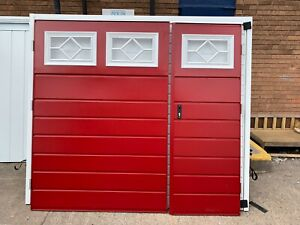 Side hinged Mid Horizon 2125 wide x 1980 high Red Small door Right