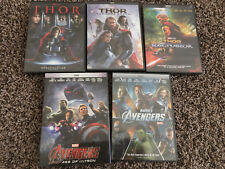 Marvel's Avengers 1 2 and Thor 1 2 3 Dark World Trilogy 5-DVD Bundle Set NEW