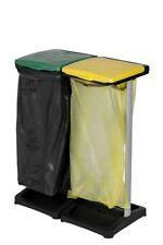 Müllsackständer 110 Liter Doppel Müllsackhalter mit Deckel Gelber Sack Mülleimer