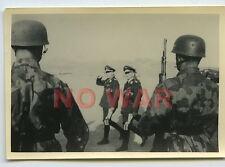 WWII ORIGINAL GERMAN WAR PHOTO PARATROOPER SOLDIERS CAMOUFLAGED W HELMETS PARADE