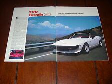 1985 TVR TASMIN 280i  ***ORIGINAL ARTICLE***