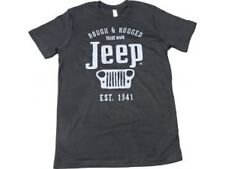 Jeep T-Shirt Rough & Rugged Jersey Tee Shirt in Black