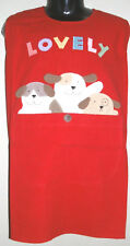 100% Cotton Red Girls Boys Apron Tabard L 8-10 Years
