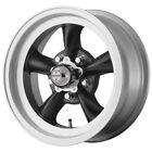 4-American Racing VN105 Torq Thrust D 15x7 5x4.75 -6mm Black Wheels Rims 15 Inch