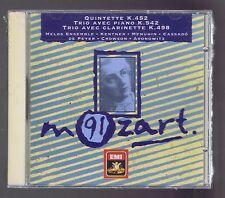 MOZART CD NEW QUINTETTE K 452/ TRIO K 542/ KEGELSTATT/ MELOS ENSEMBLE/G. CASSADO