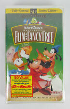 Walt Disney Masterpiece Fun and Fancy Free (VHS,1997) 50th Anniversary Brand NEW